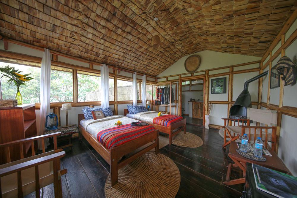 twin room at bwindi chimp and gorilla photo safari